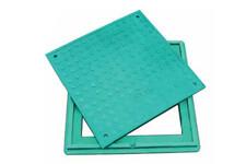 Люк полімерпіщаний Л, зелений 1,5 т (А15 легкий) квадратний