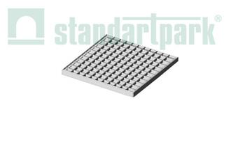 Решітка стальна чарункова Basic (оцинкована) 391x391  (арт. 34201)