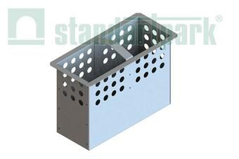Кошик для пісковловлювача DN200 з оцинкованої сталі  (арт. 6159)