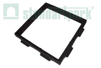 Чавунний дощоприймач-обрамлення (квадратне) 300x300  (арт. 3360)