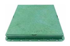 Люк садовий квадратний пластиковий зелений