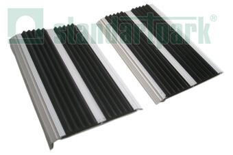 Гумово-алюмінієва накладка на сходи подвійна  (арт. 30012)