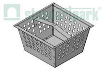 Корзина для дощоприймача-пісковловлювача з оцинкованої сталі