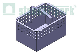 Кошик для дощоприймального колодязя DN300 (нержавіюча сталь)  (арт. 6979)